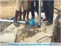 Mechanisatie waterpomp St. Don Bosco Special School